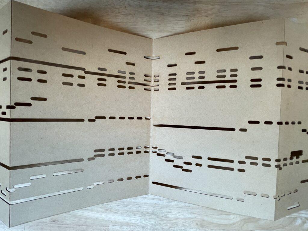 Foto orgelboek geponst